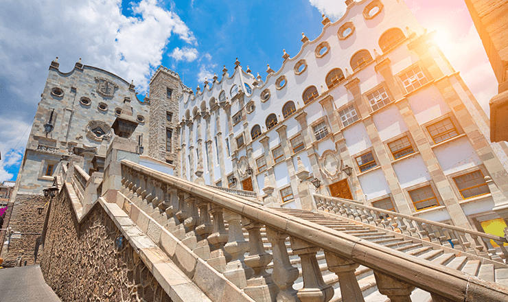Education in Mexico lead image: photo of the University of Guanajuato