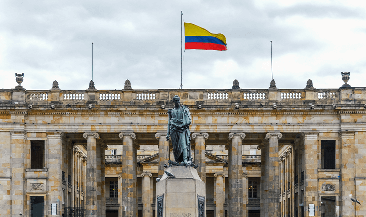 Education in Colombia Lead image: Photo of Bolivar Square in Bogota.
