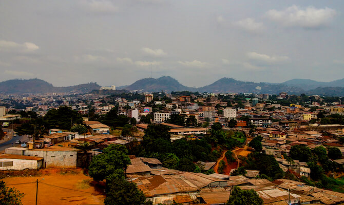 Education in Cameroon: Photo of the skyline of Yaoundé, the capital of Cameroon